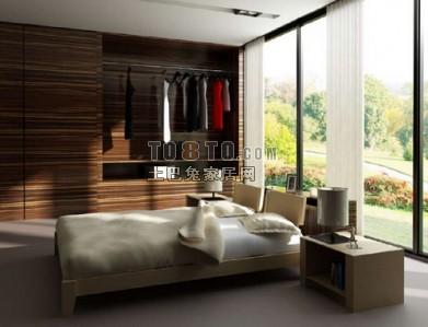 现代风格卧室3D模型64