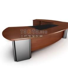老板桌3d模型下载
