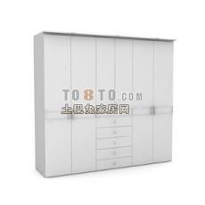 办公柜-文件柜9-5套3d模型下载
