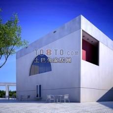 建筑1-5套(含材质贴图)3d模型下载