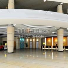 酒店3d模型下载