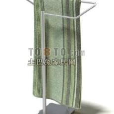 毛巾及毛巾架3d模型下载