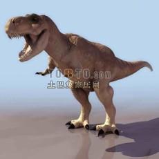恐龙-霸王龙-动物83d模型下载
