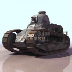 坦克兵器素材103d模型下载