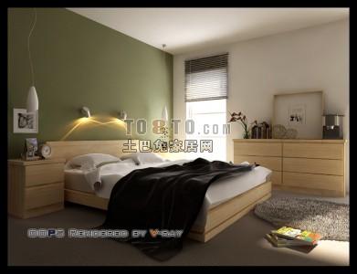 现代风格卧室3D模型63