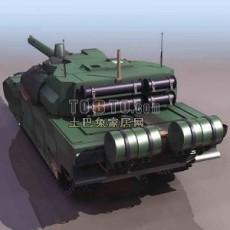 坦克兵器素材83d模型下载