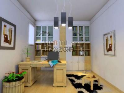 书房3D模型库下载13