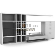 办公柜-文件柜14-5套3d模型下载