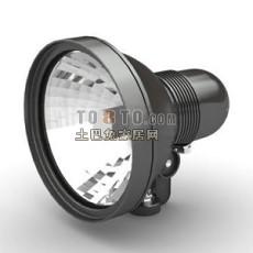黑色欧式现代射灯3d模型下载