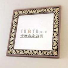 欧式家具-欧式梳妆镜1-5套3d模型下载