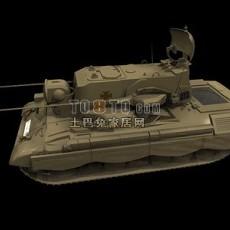 坦克兵器素材283d模型下载