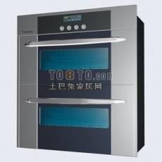 灰色现代风格厨房电器3d模型下载
