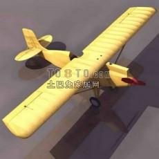 简易飞机3d模型下载