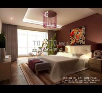 现代风格卧室3D模型66
