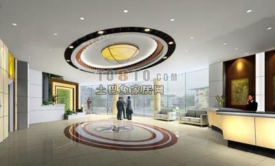 现代酒店3D模型下载19