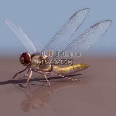 蜻蜓-动物素材3d模型下载