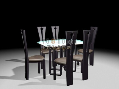 桌椅组合3D模型