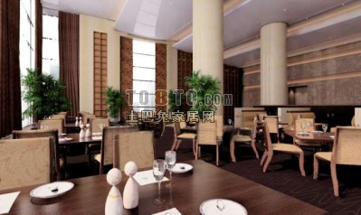 餐厅3D模型下载11