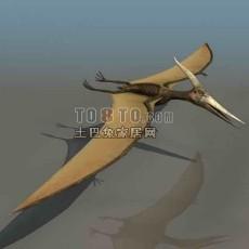 恐龙-翼龙-动物133d模型下载