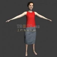 普通老年女性max人物3d模型下载
