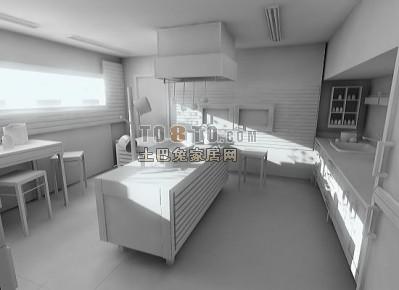 厨房3D模型下载6