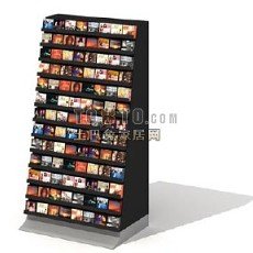 书店货架-书报架3d模型下载