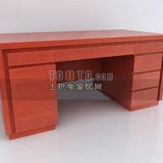 古典中式书桌123d模型下载