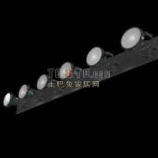 舞台酒吧激光灯3d模型下载
