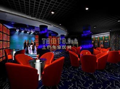 酒吧3D模型下载4