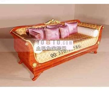 欧式双人沙发3D模型下载