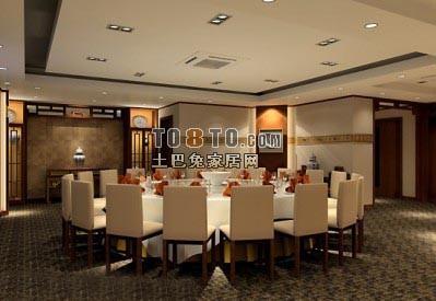 中式宴会厅3D模型24