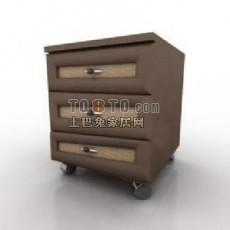 现代风格床头柜3d模型下载