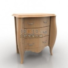 欧式风格床头柜-欧式3d模型下载