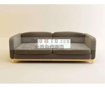 现代双人沙发3D模型下载6
