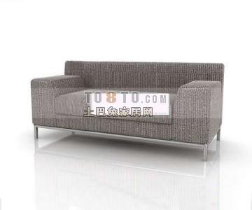 现代双人沙发3D模型下载