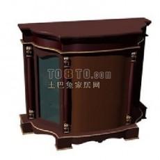 欧式风格床头柜3d模型下载