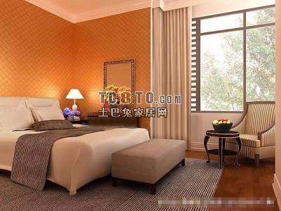 欧式风格卧室3D模型57