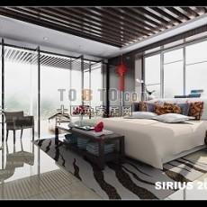 明亮卧室3d模型下载