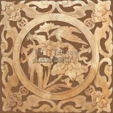 中式木雕花片0053d模型下载