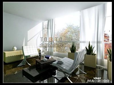 现代客厅3D模型下载62