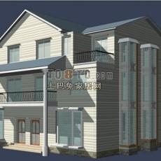 别墅max外观3d模型下载