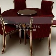 欧式圆桌3d模型下载