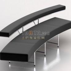 等候椅3d模型下载