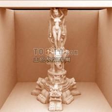 神的雕塑3d模型下载