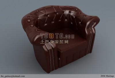 棕色皮质现代沙发图片模型下载