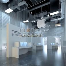 苹果展厅3d模型下载