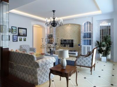 现代客厅3D模型下载21