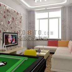 小客厅3d模型下载