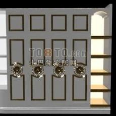 欧式现代长衣柜3d模型下载