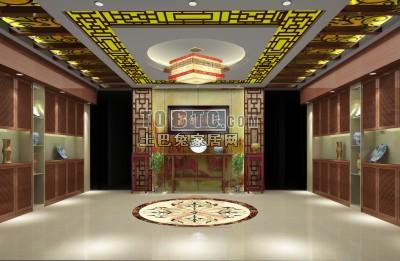中式客厅3D模型下载19